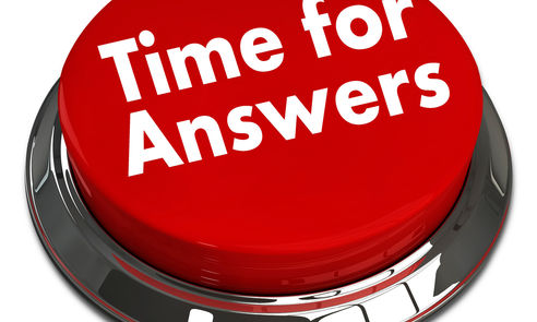 "3d red push button "" time for answers """